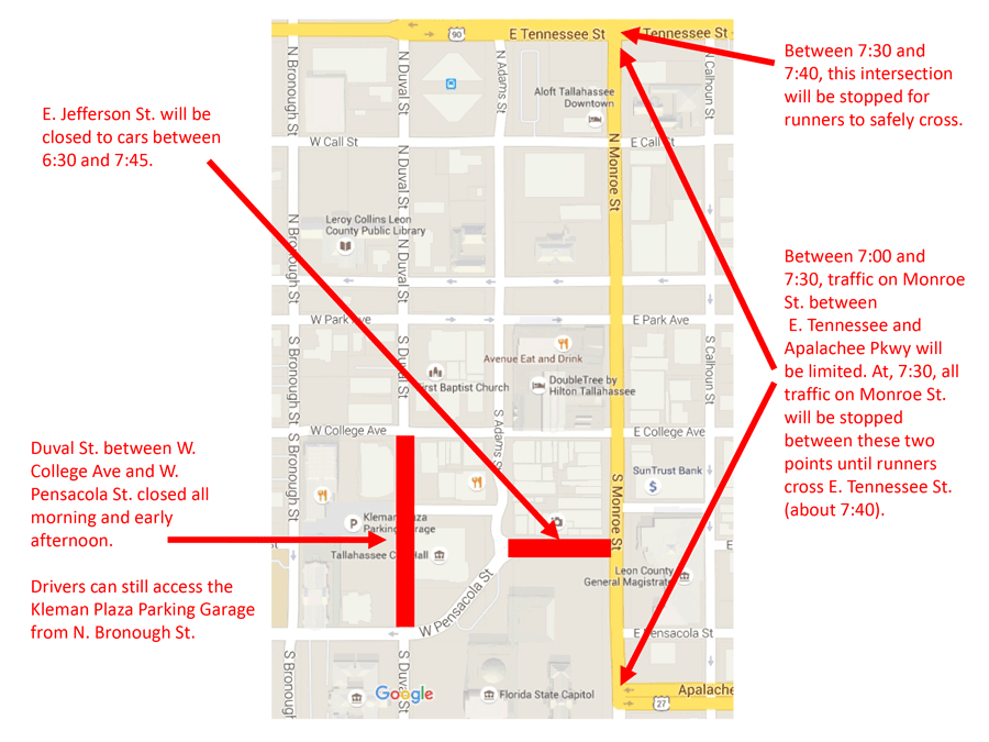 Race Closures Map